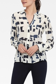 Ecru Hepburn Shirt Abstract - Side cropped
