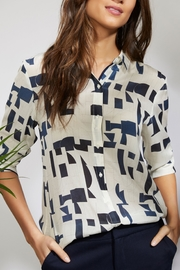 Ecru Hepburn Shirt Abstract - Product Mini Image