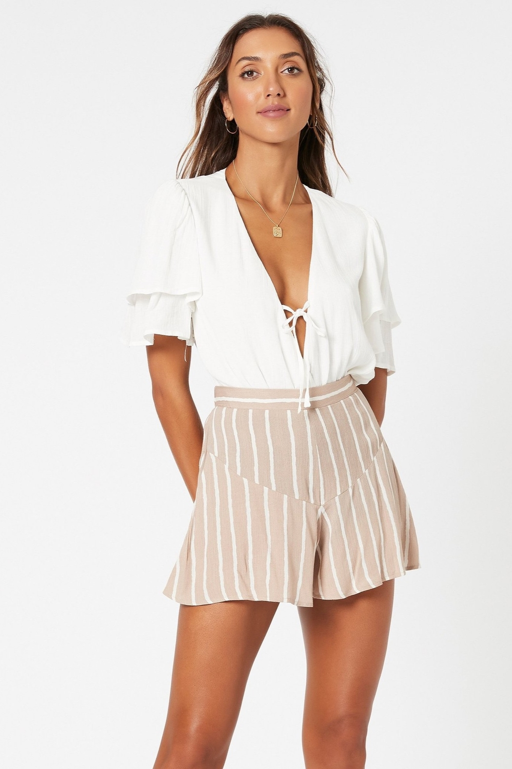MinkPink Her Charm Bodysuit - Front Cropped Image