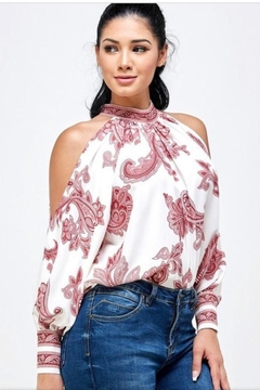 Her Bottari Red Paisley Top - Product List Image