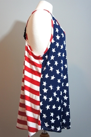 Her She American Flag Tanktop - Front full body