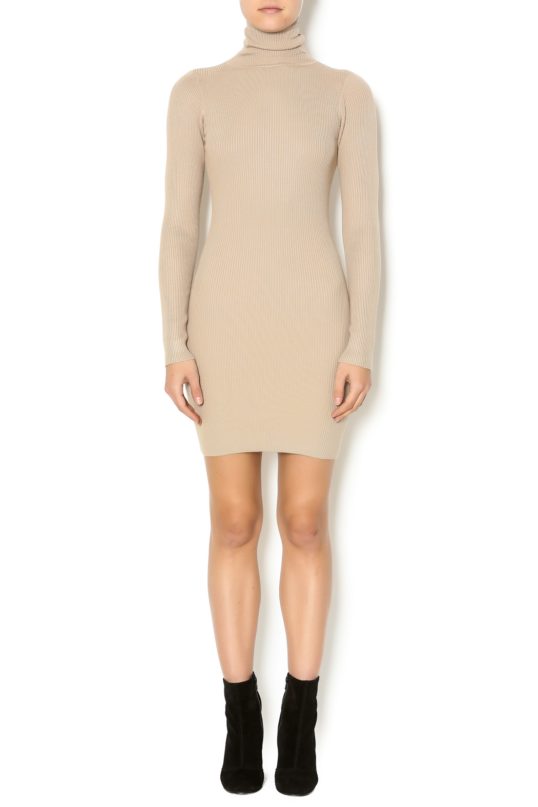 Hera collection beige turtleneck sweater dress from for Sweater over wedding dress