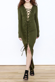 Hera Olive Maxi Dress - Product Mini Image