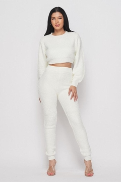 Shoptiques Product: Fuzzy Crop Sweater