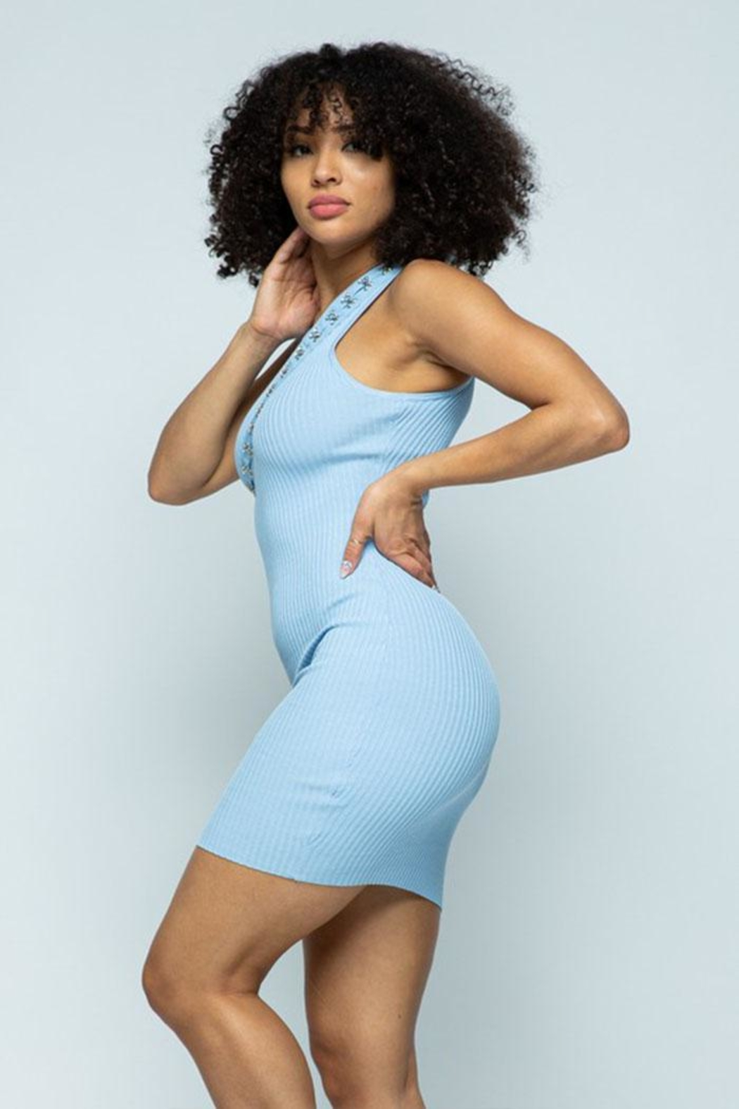Hera Hook-And-Eye Midi Dress - Back Cropped Image