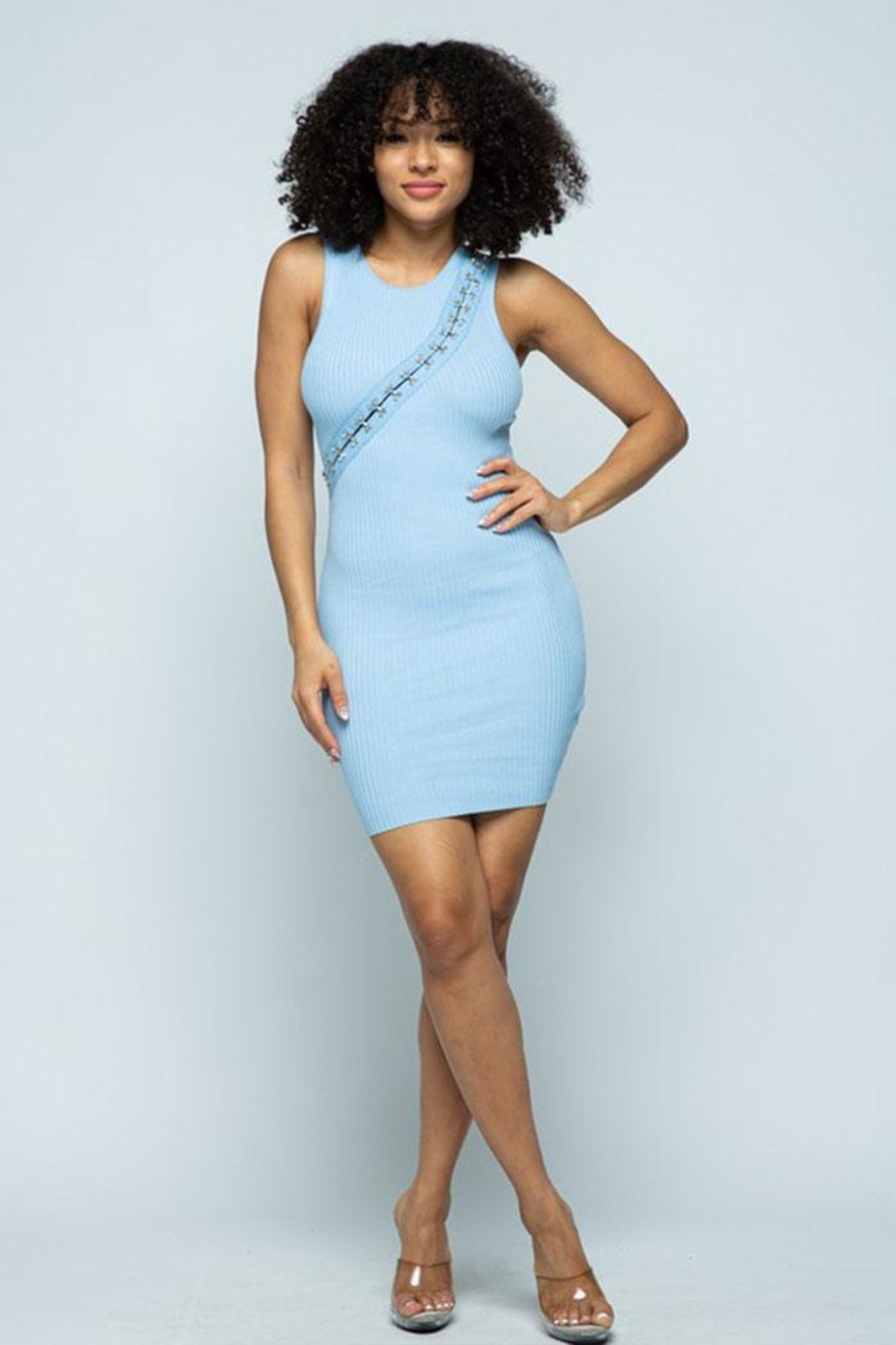 Hera Hook-And-Eye Midi Dress - Front Full Image