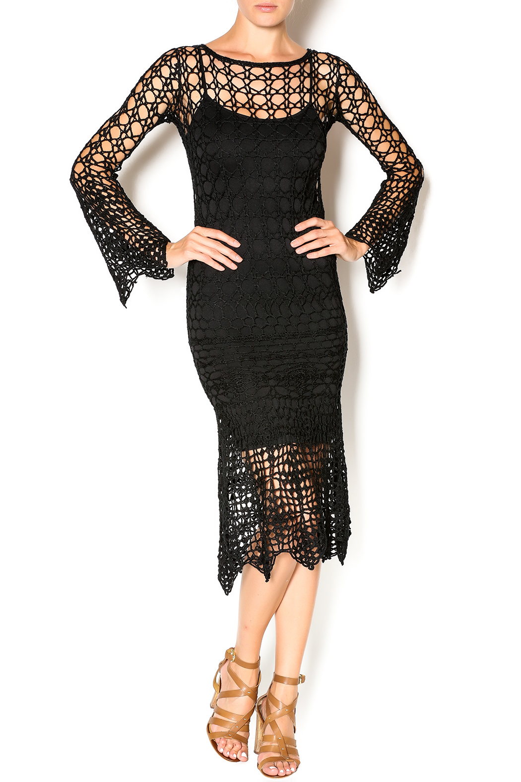 Hera Midnight Crochet Dress - Main Image