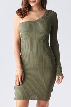 Shoptiques Product: One Shoulder Sweater Dress