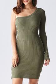 Hera One Shoulder Sweater Dress - Product Mini Image