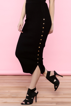 Hera Snap Button Pencil Skirt - Product List Image