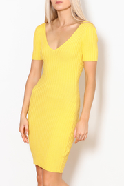 Hera Ribbed Bodycon Dress - Product Mini Image
