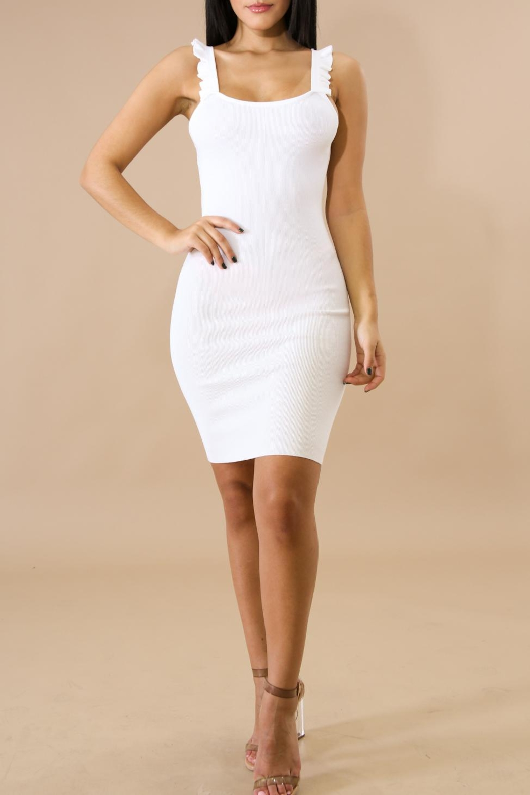 Hera Ruffle Detail Dress - Front Cropped Image