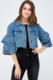 Hera Ruffle Sleeve Jacket - Product Mini Image