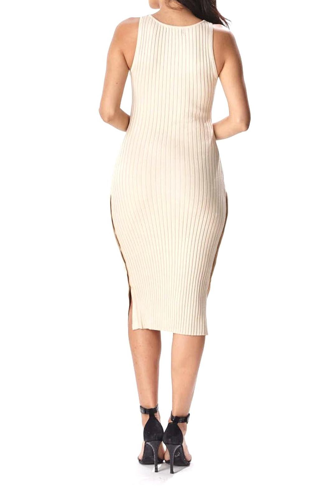 Hera Side Button Dress - Side Cropped Image