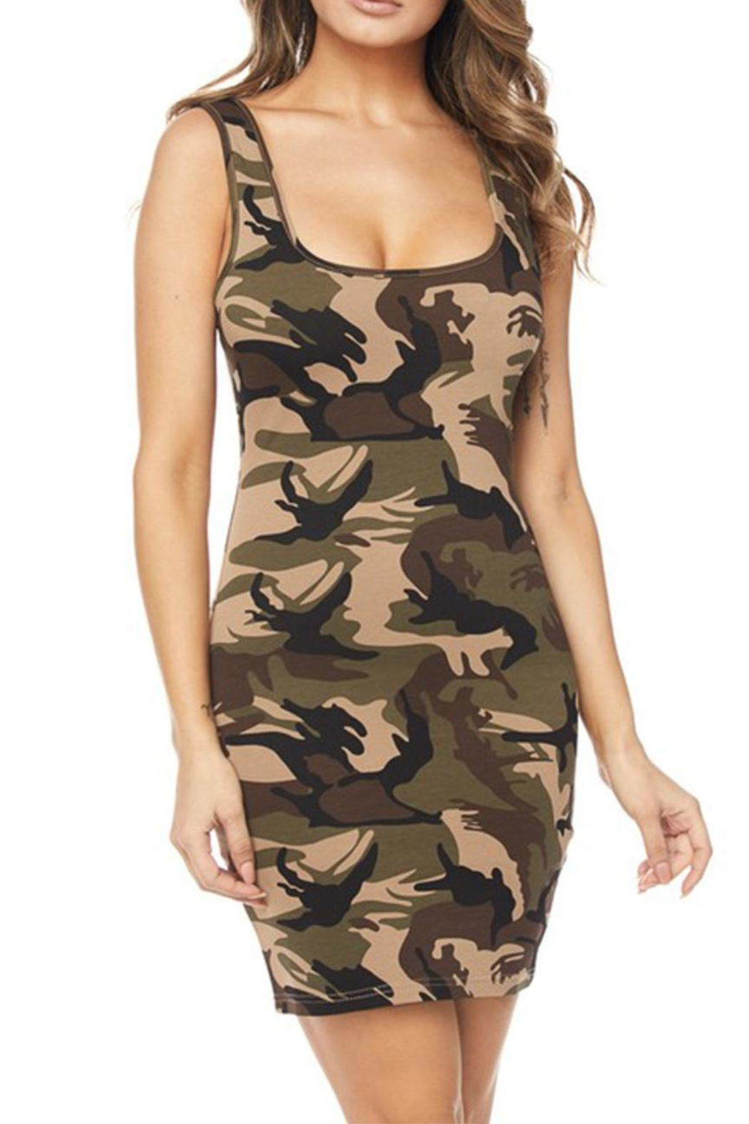 hera collection Camo Bodycon Dress - Side Cropped Image