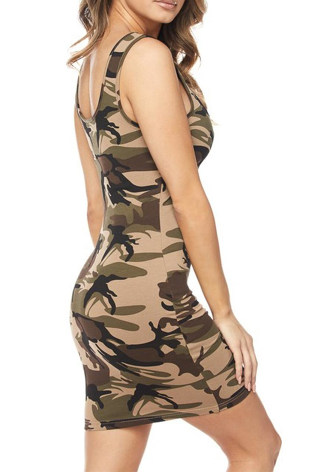 hera collection Camo Bodycon Dress - Front Full Image