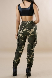 hera collection Camo Cargo Pants - Front full body