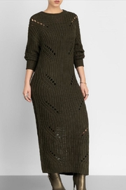hera collection Distressed Maxi Sweater - Front full body
