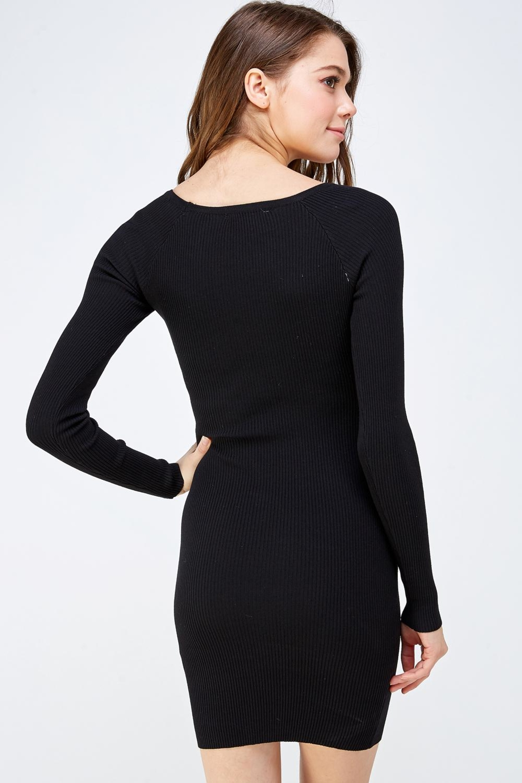 hera collection Keyhole Mini Dress - Back Cropped Image