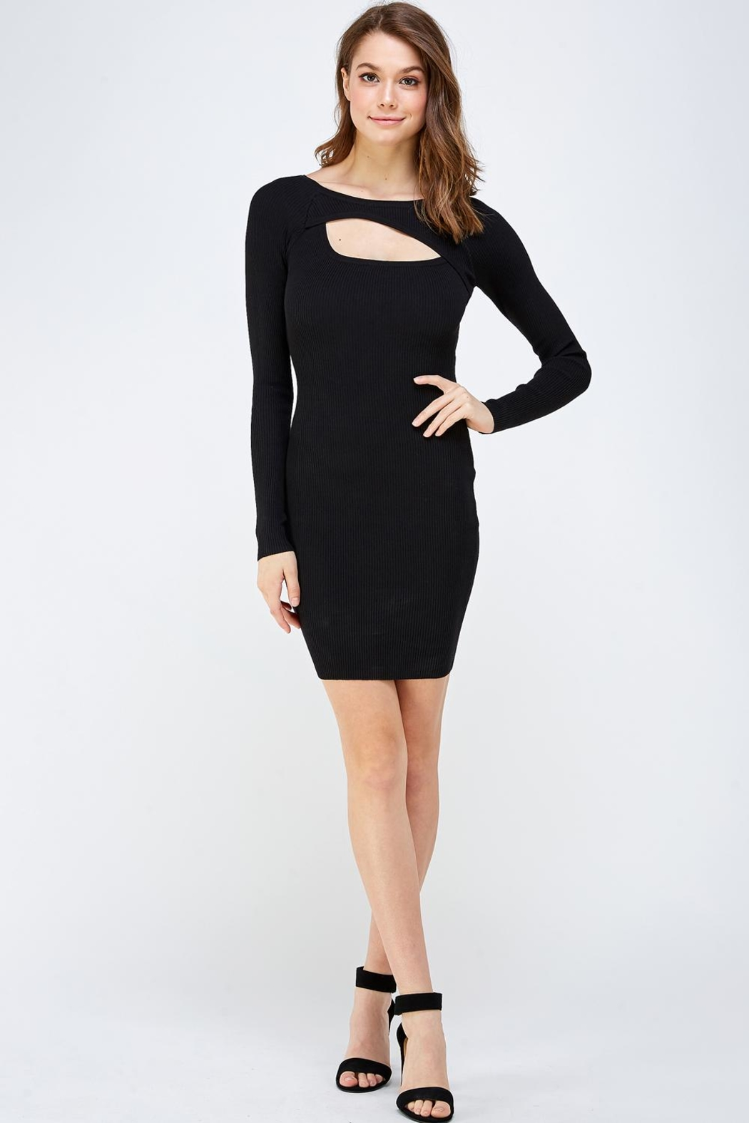 hera collection Keyhole Mini Dress - Front Full Image