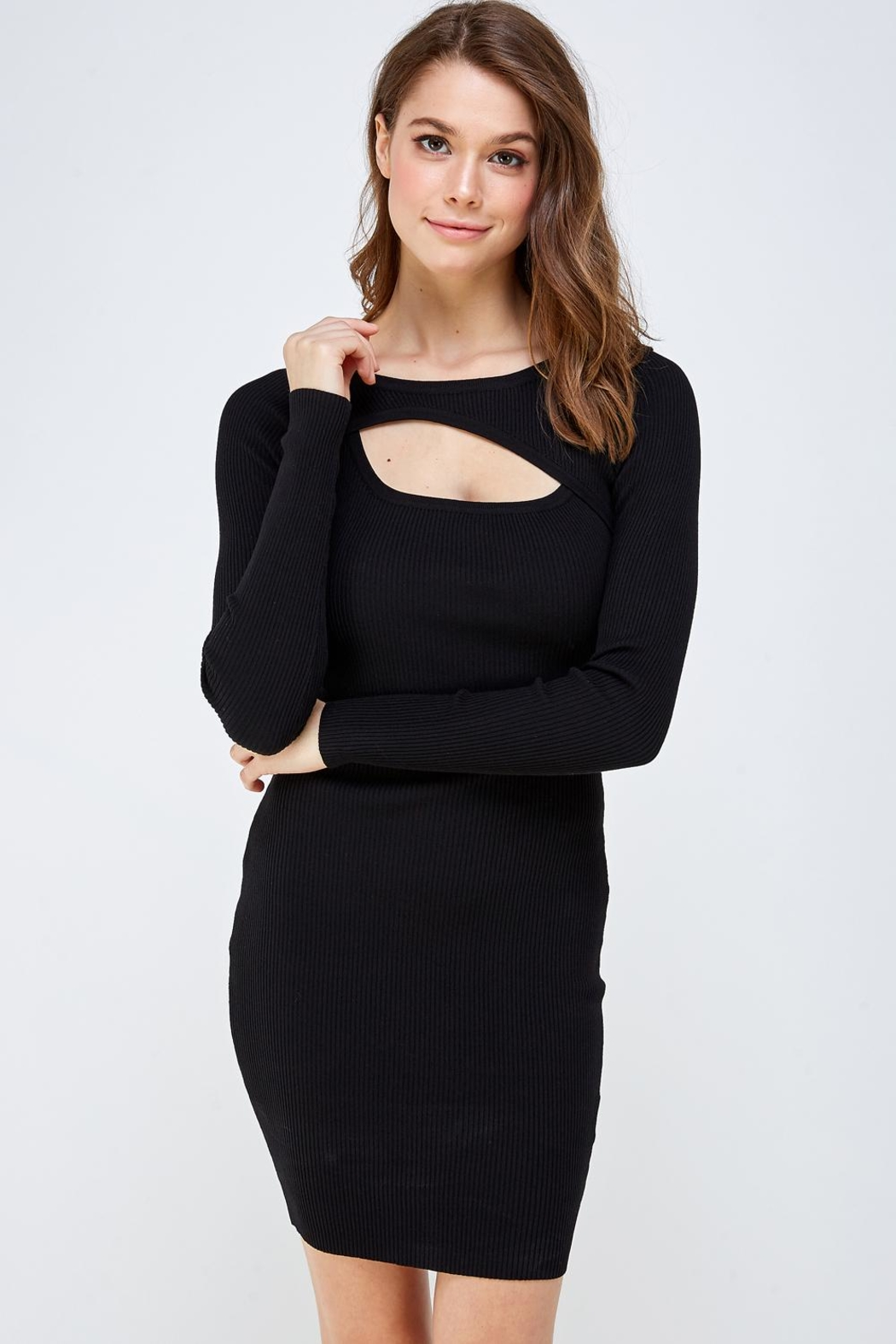 hera collection Keyhole Mini Dress - Main Image
