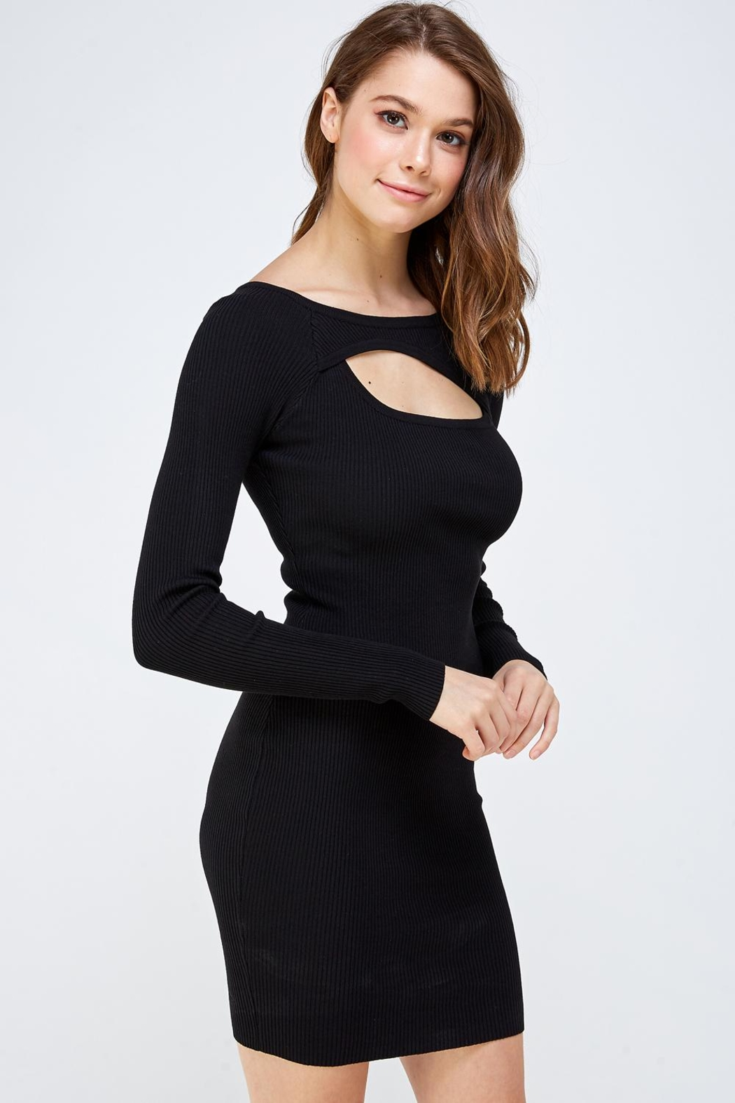 hera collection Keyhole Mini Dress - Side Cropped Image