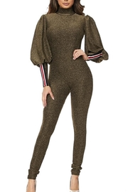 hera collection Olive Shimmer Jumpsuit - Product Mini Image
