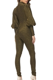 hera collection Olive Shimmer Jumpsuit - Front full body