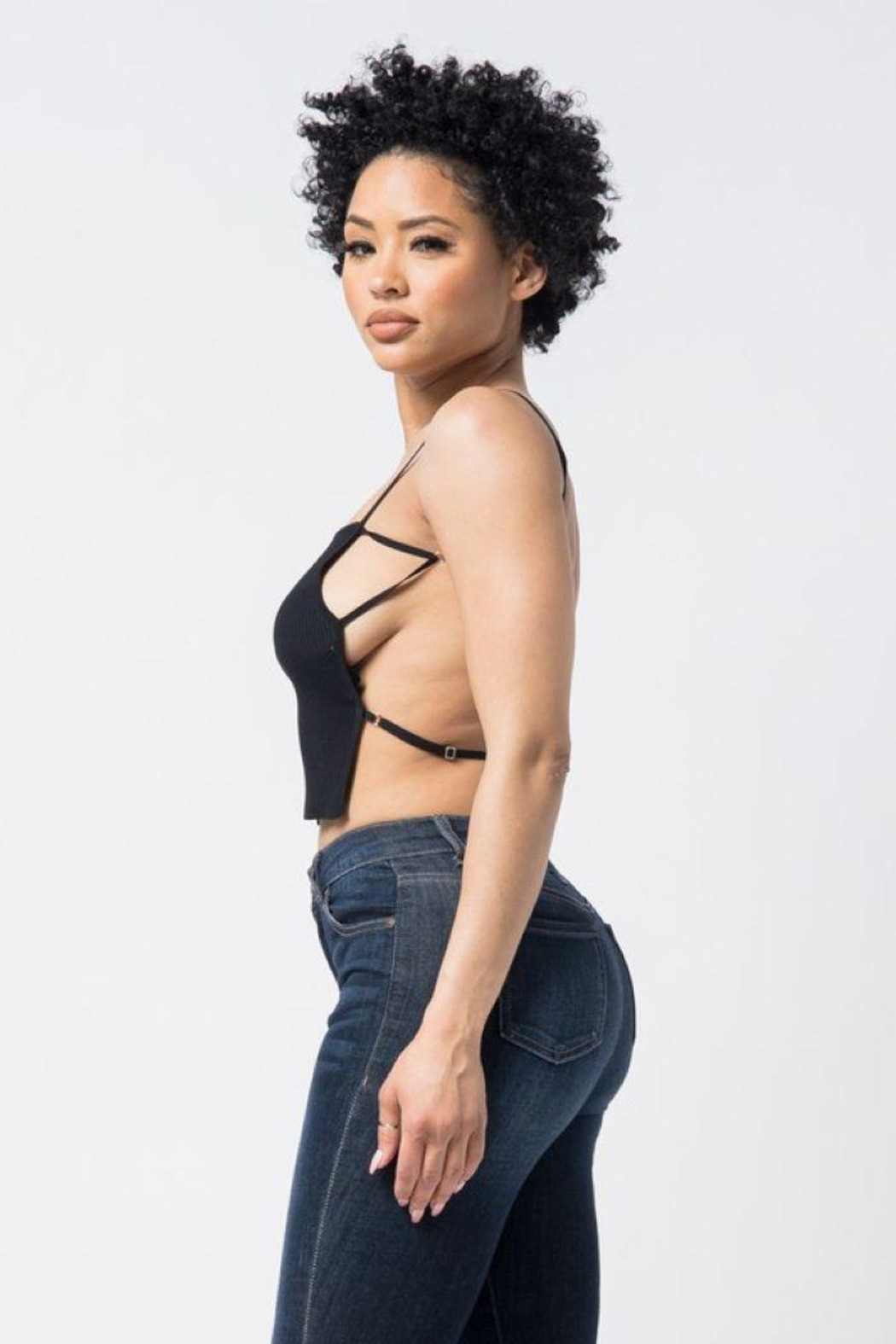 hera collection Open Back Knit Top - Side Cropped Image