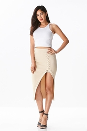 hera collection Side Lattice Midi-Skirt - Other