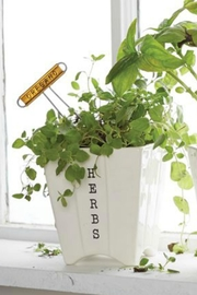 Mud Pie Herb Pot/marker Set - Front cropped
