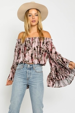 Shoptiques Product: Here For It Tie Dye Blouse