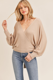Sadie & Sage Here For You Wrap Top - Product Mini Image