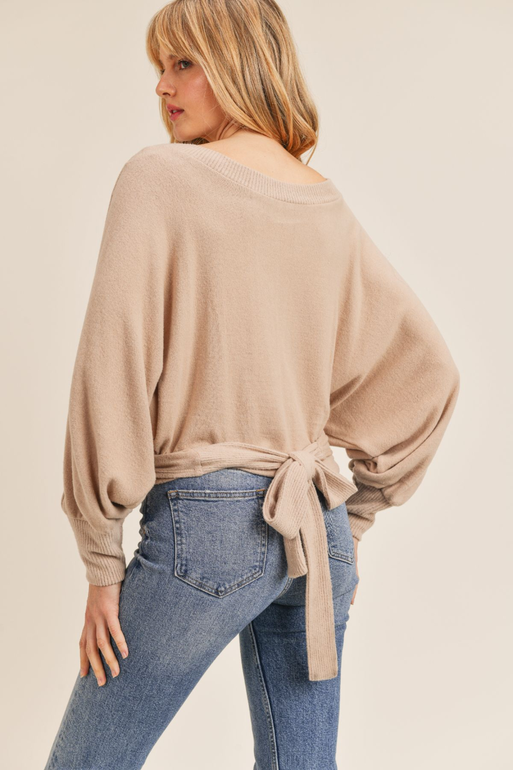 Sadie & Sage Here For You Wrap Top - Side Cropped Image