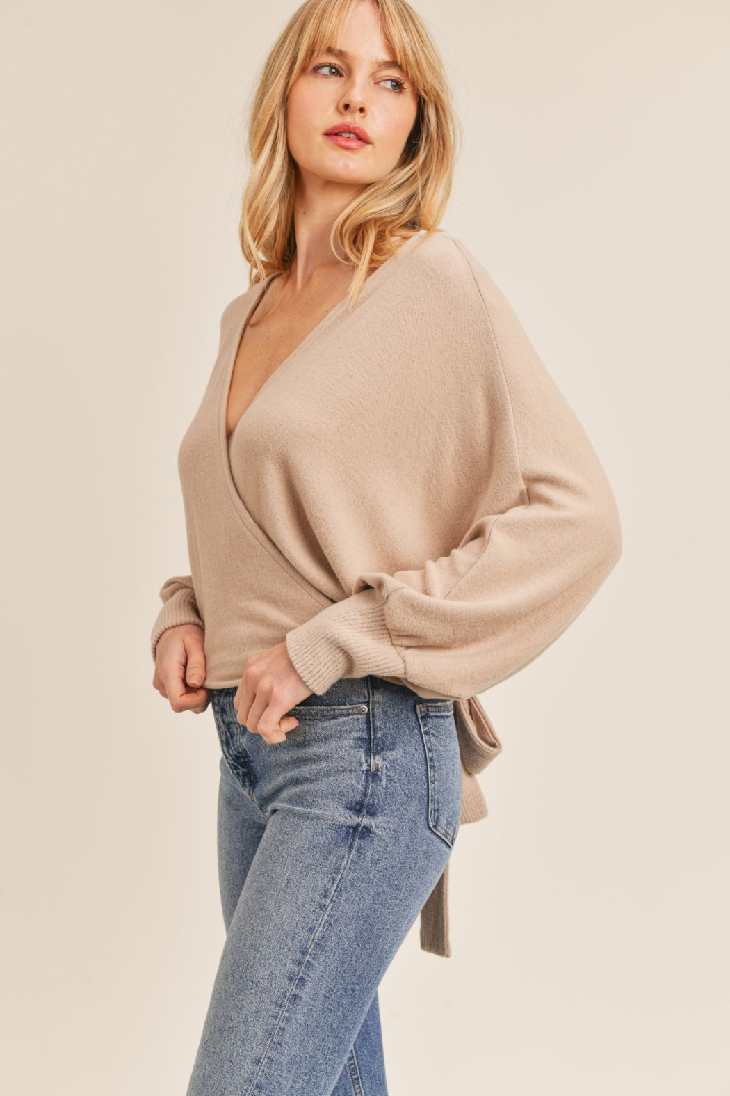 Sadie & Sage Here For You Wrap Top - Front Full Image