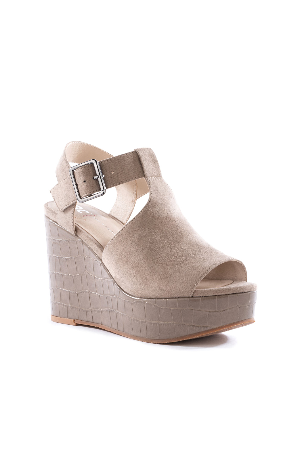 BC Footwear Here We Go Wedge - Front Full Image