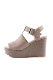 BC Footwear Here We Go Wedge - Front cropped