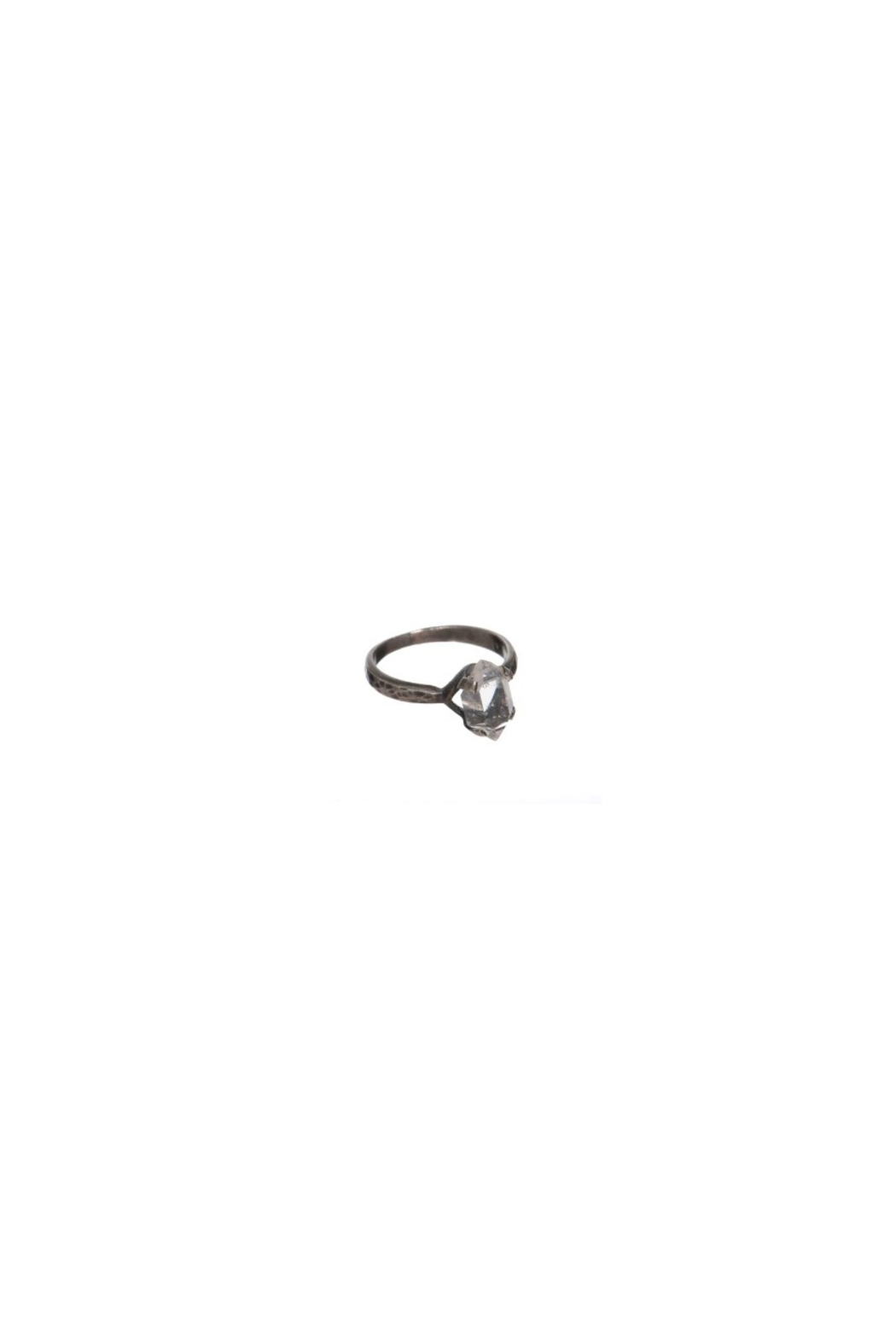 Roost Herkimer Diamond Solitaire Ring - Front Full Image