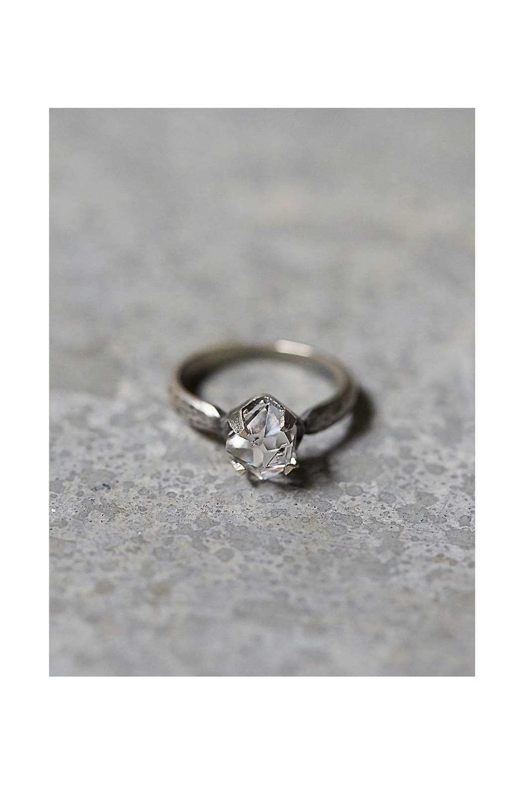 Roost Herkimer Diamond Solitaire Ring - Main Image