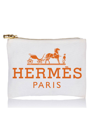 Toss Designs HERMES INSPITED JUMBO COSMETIC BAG - Front cropped