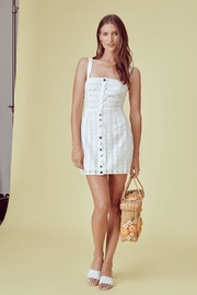 FOR LOVE & LEMONS Hermosa-Eyelet Snap Dress - Product Mini Image
