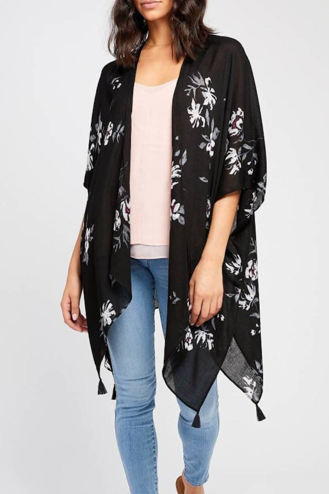 Gentle Fawn Heron Kimono - Front Cropped Image