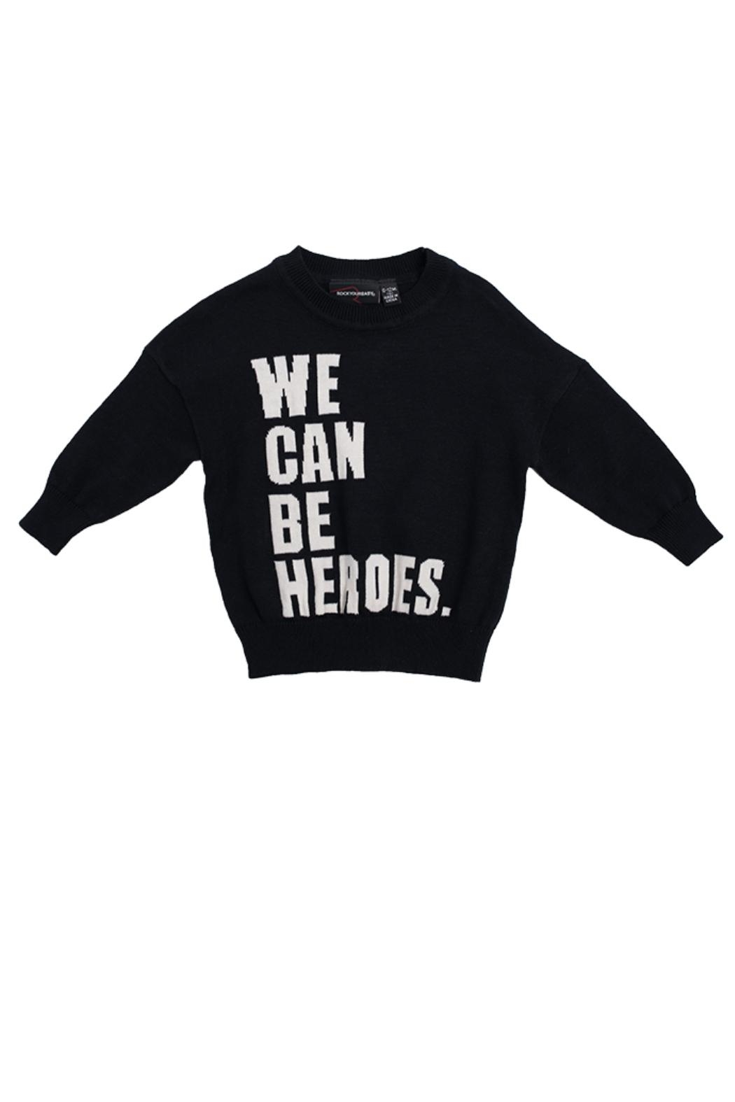 Rock Your Baby Heros Knit Pullover - Front Cropped Image