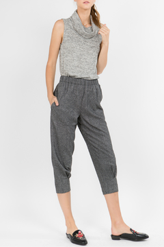 Hashttag Herringbone cropped pants - Product List Image