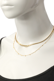 FAME ACCESORIES Herringbone Layered Necklace - Side cropped