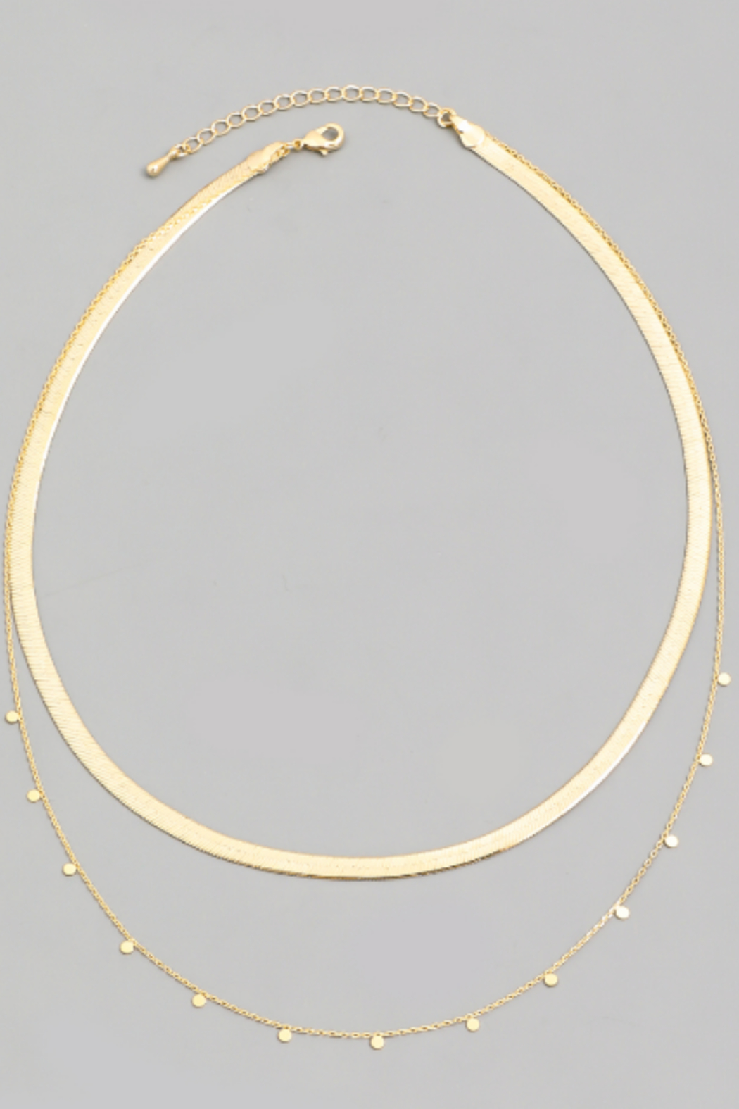FAME ACCESORIES Herringbone Layered Necklace - Main Image