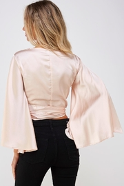 hers and mine Bell Sleeve Blouse - Back cropped