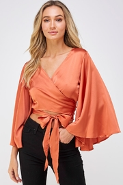 hers and mine Bell Sleeve Blouse - Front cropped