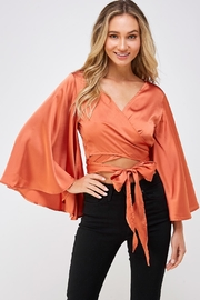 hers and mine Bell Sleeve Blouse - Front full body