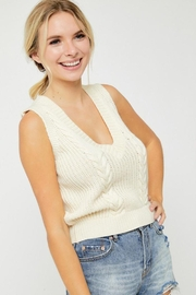 hers and mine Cable Sweater Vest - Front full body